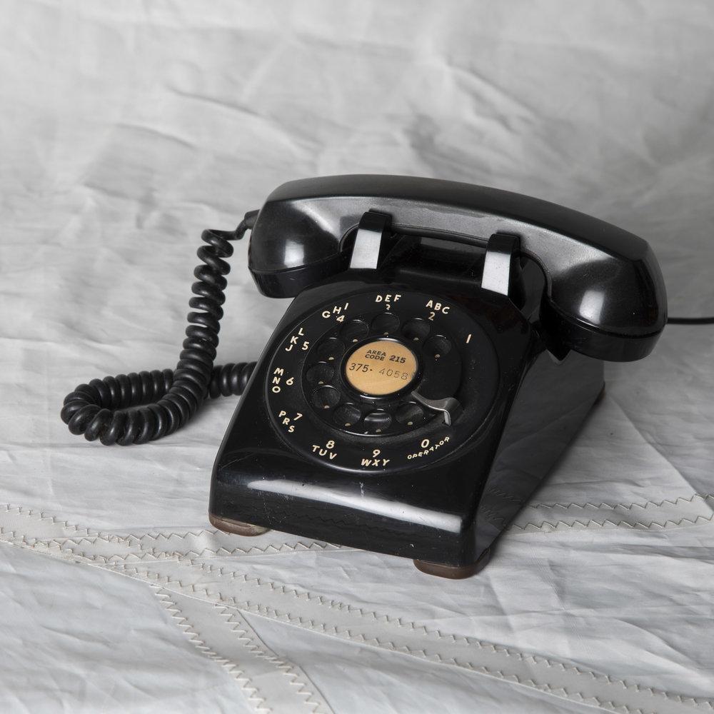 BLACK ROTARY PHONE #1
