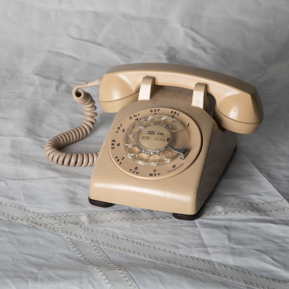 PEACH ROTARY PHONE