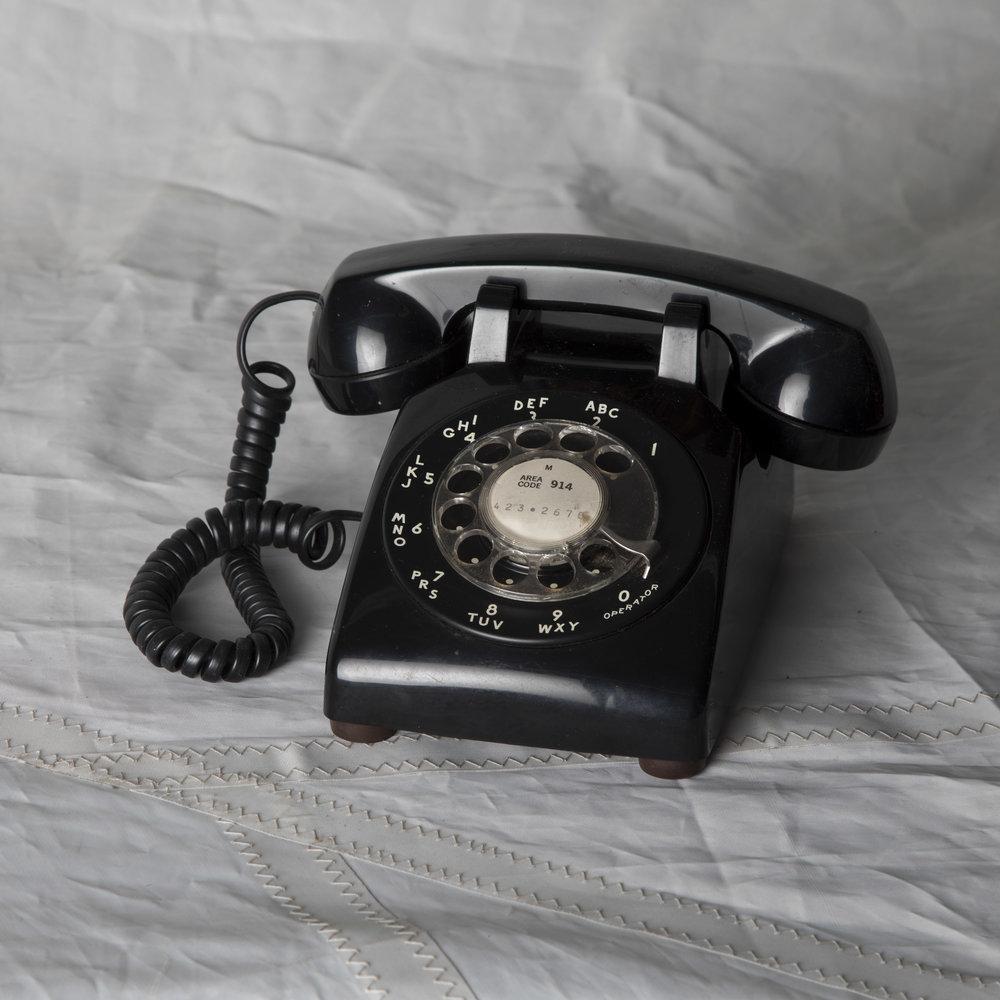 BLACK ROTARY PHONE #2