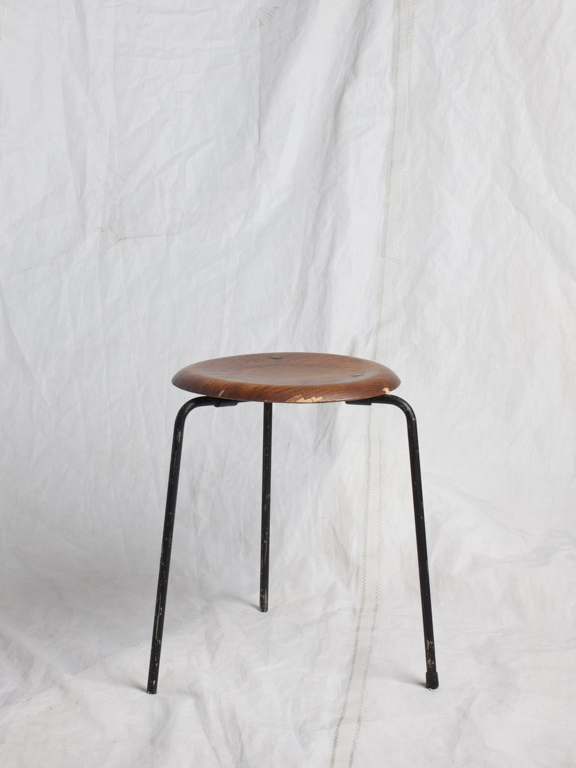 "ST097  FRITZ HANSEN DOT STOOL 13"" DIA x 17.5"" H  $75/week"
