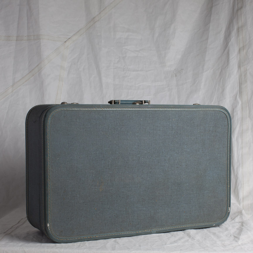 LUGGAGE 15 GRAY BLUE SUITCASE