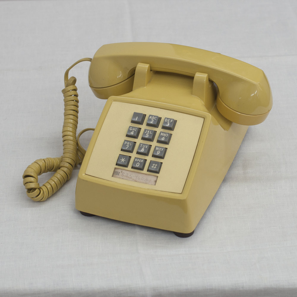 YELLOW ROTARY PHONE