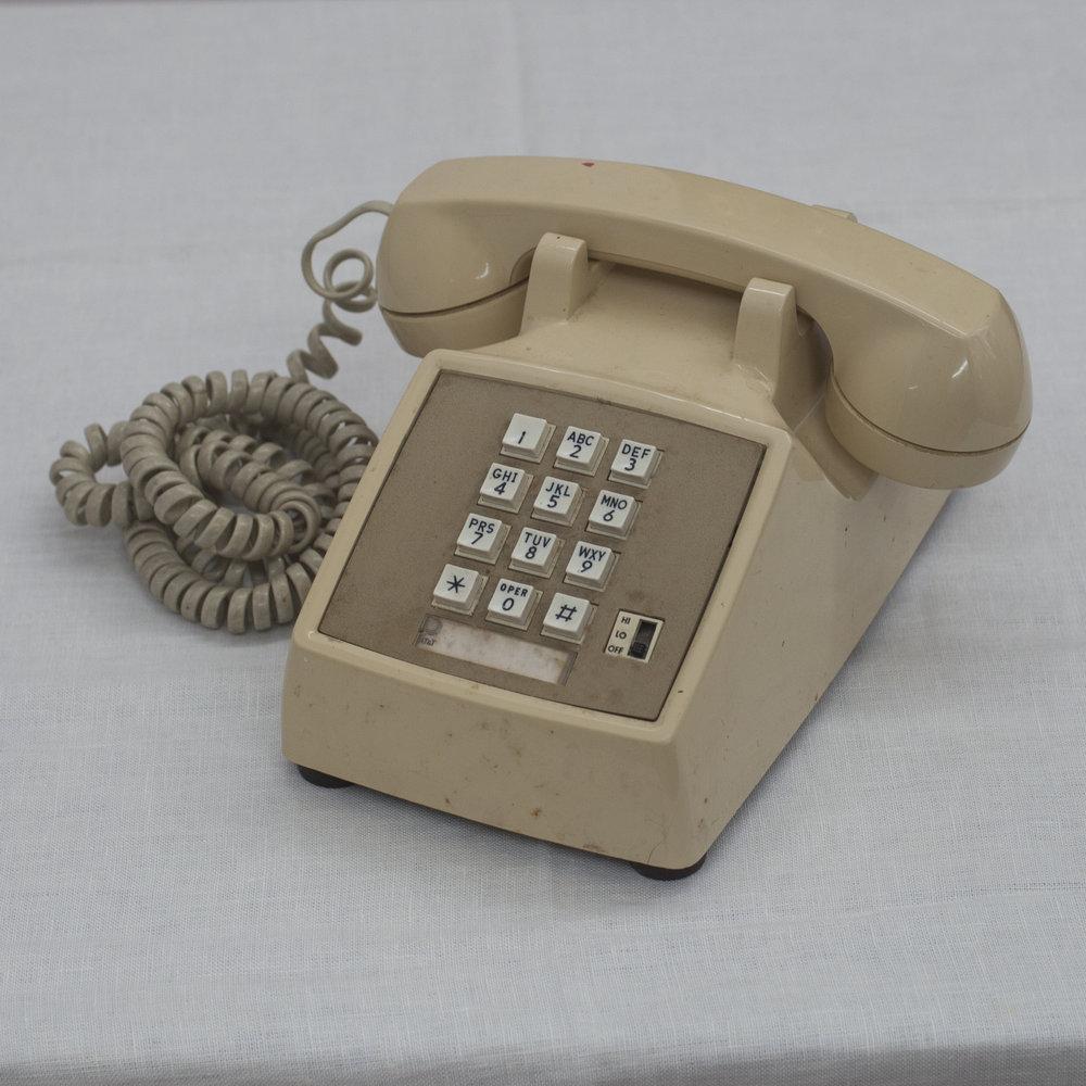 CREAM ROTARY PHONE