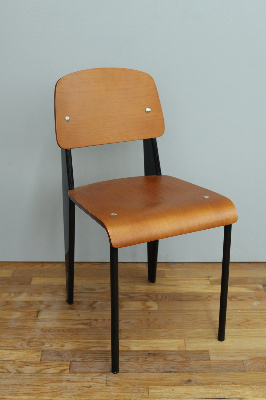 Prouvé style chair, black/caramel  $100/week