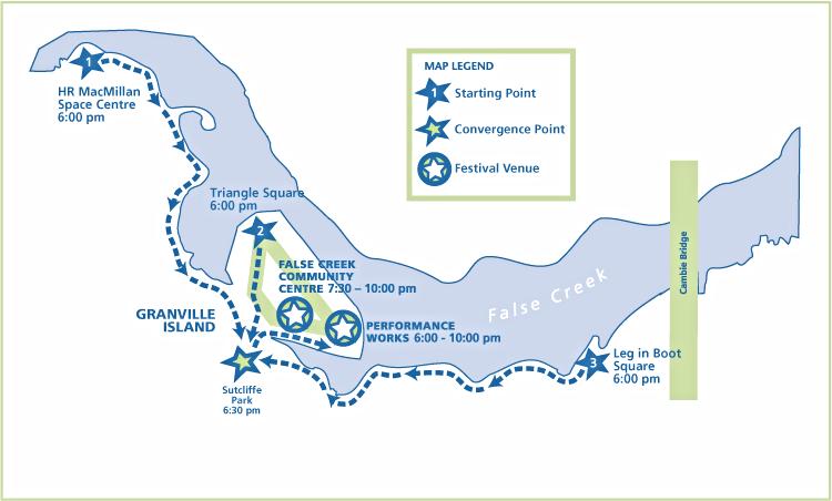 Granville Island map