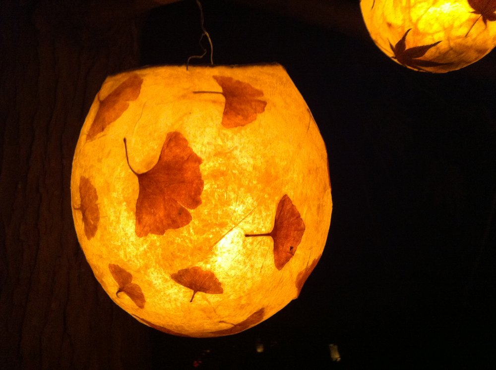 Ginko globe lantern
