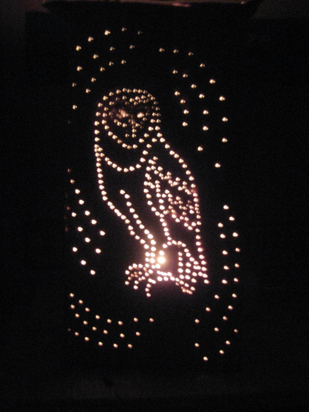 Pin-prick lantern