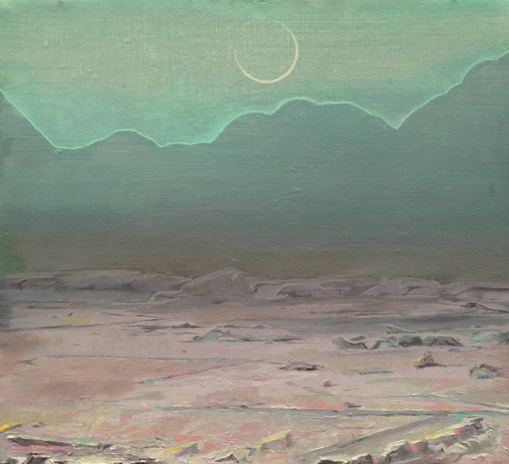 """New Moon,"" 2014, oil on canvas, 10x9 in."