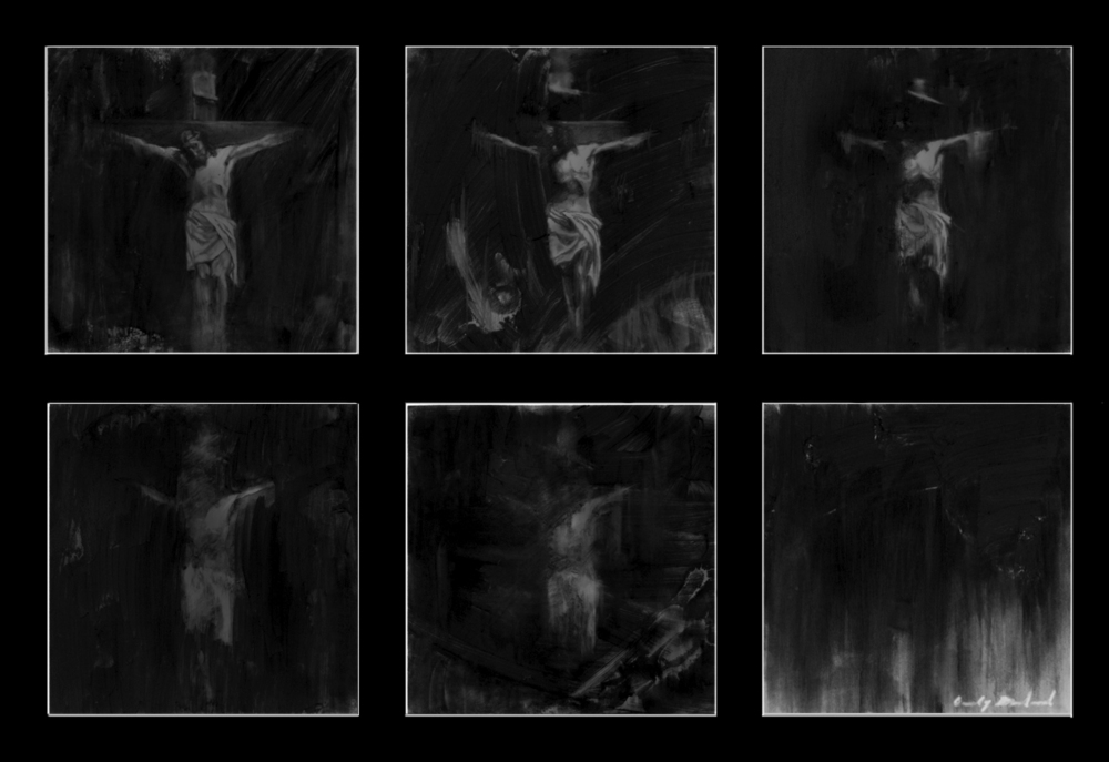 """Loss of Faith"", 2012, charcoal on mylar, 8x12 in."