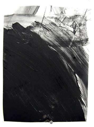 """3:00 am,"" 2012, charcoal and gesso on mylar"