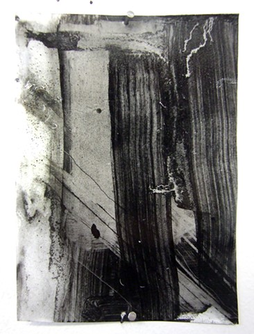 """Ab 2,"" 2012, charcoal and gesso on mylar"
