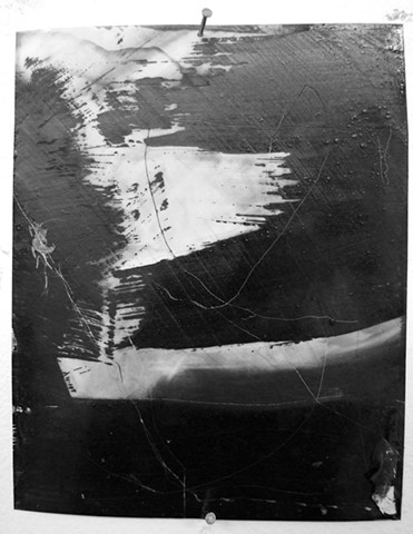 """Ab 3,"" 2012, charcoal and gesso on mylar"