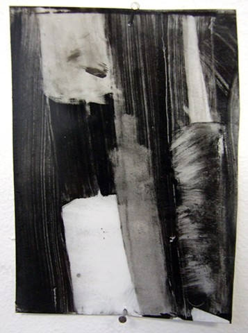 """Ab 1,"" 2012, charcoal and gesso on mylar"