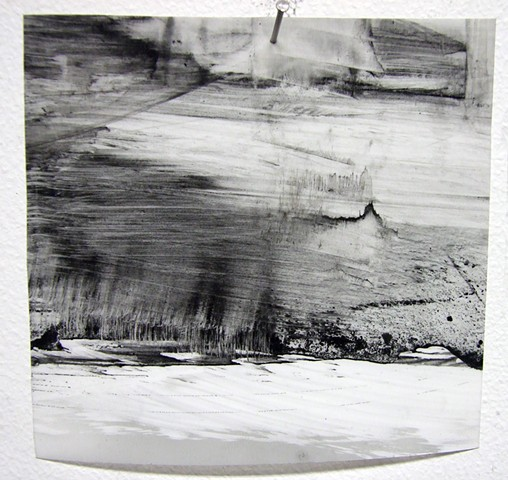 """Ab 10,"" 2012, charcoal and gesso on mylar"