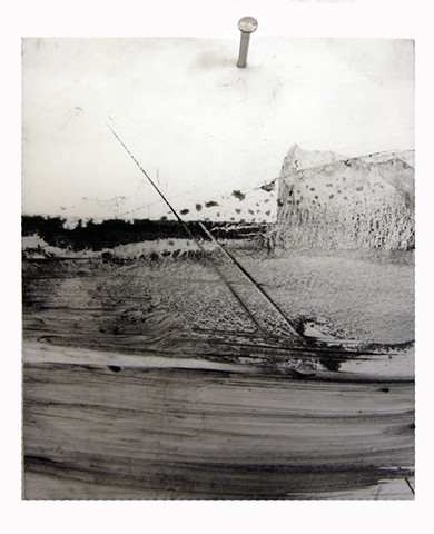 """Ab 15,"" 2012, charcoal and gesso on mylar"