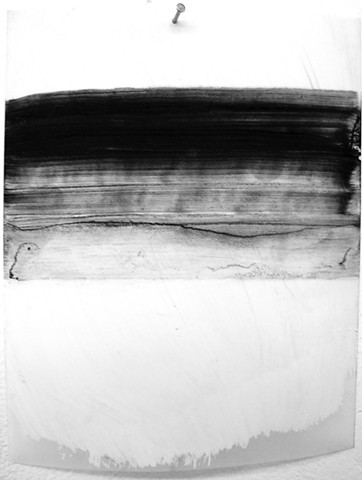 """Ab 7,"" 2012, charcoal and gesso on mylar"