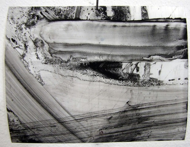 """Ab 19,"" 2012, charcoal and gesso on mylar"