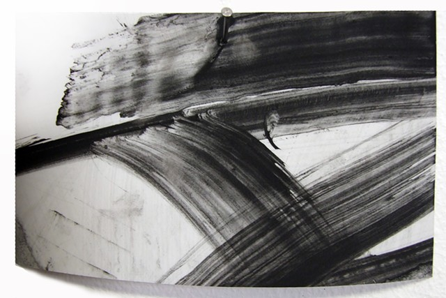 """Ab 21,"" 2012, charcoal and gesso on mylar"