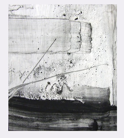"""For Edward Hamel,"" 2012, charcoal and gesso on mylar"