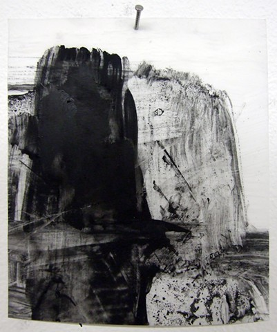 """Marriage,"" 2012, charcoal and gesso on mylar"