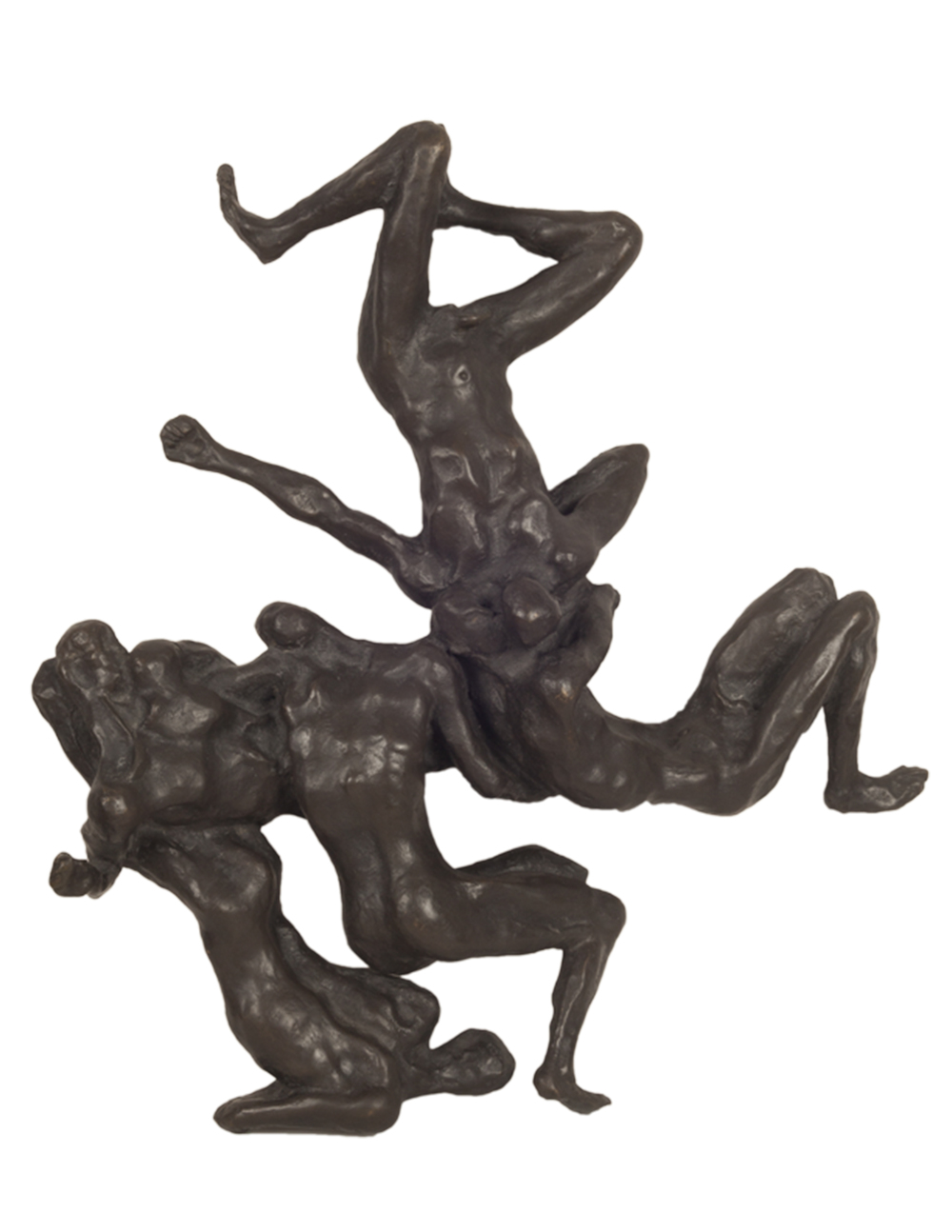 """Debacle IV,"" 2006, bronze, 17x15x3 in."