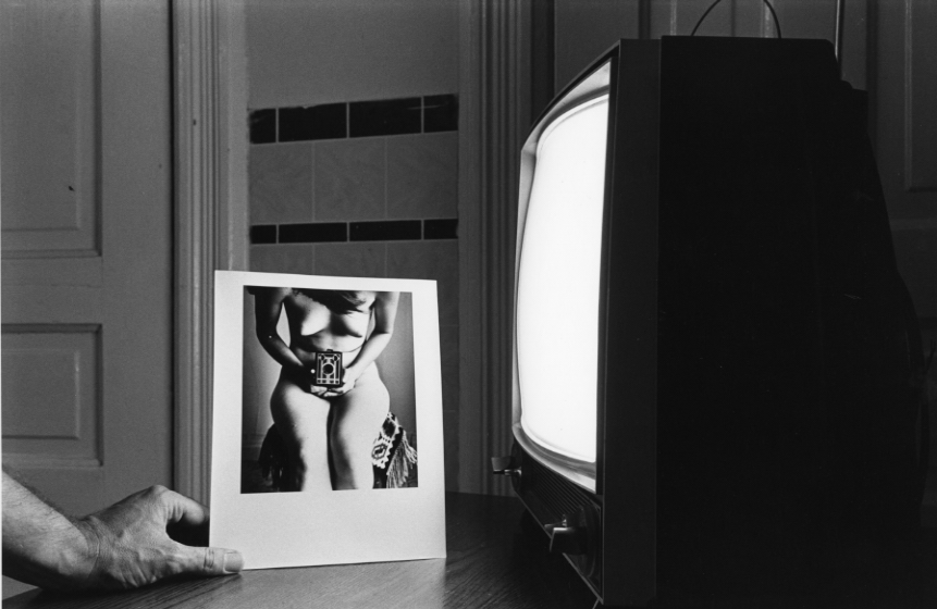 """Looking At Photographs #3 (History of Photography Series),"" 1976, gelatin silver photograph, 8x12 in."