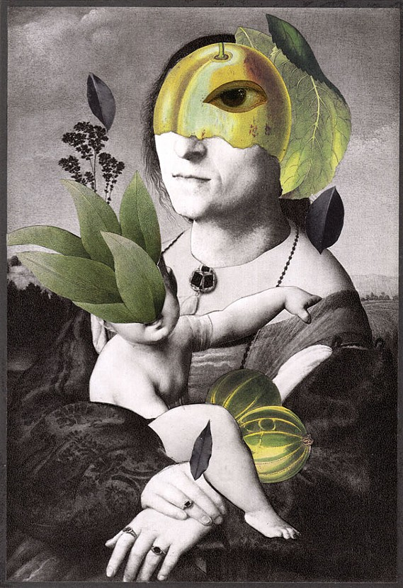 """Epiffanee,"" 2013, collage on paper, 9.25x6.5 in."