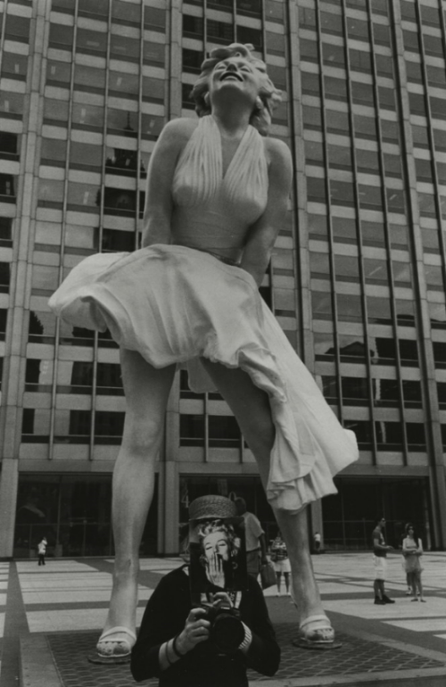 "Kenneth Josephson & Marilyn Zimmerman, ""Marilyn, Chicago,"" 2011, gelatin silver photograph, 12x13.8 in.   MARILYN: A LOVE STORY  EXHIBITING ARTISTS   Kenneth Josephson & Marilyn Zimmerwoman"