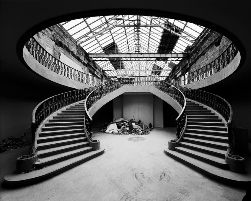 """Old Staircase and Glazed Roof Musee de l'Orangerie,"" 2001, photograph, 32x40 in."