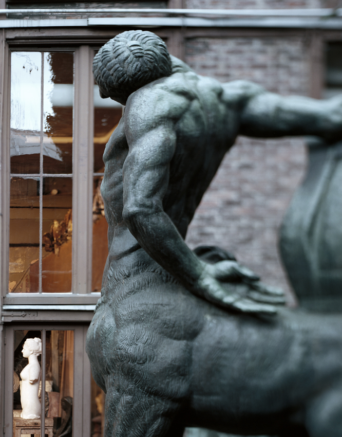 """Musee Bourdelle, Emile Antoine Bourdelle's Dying Centaur,"" 2009, photograph, 32x40 in."
