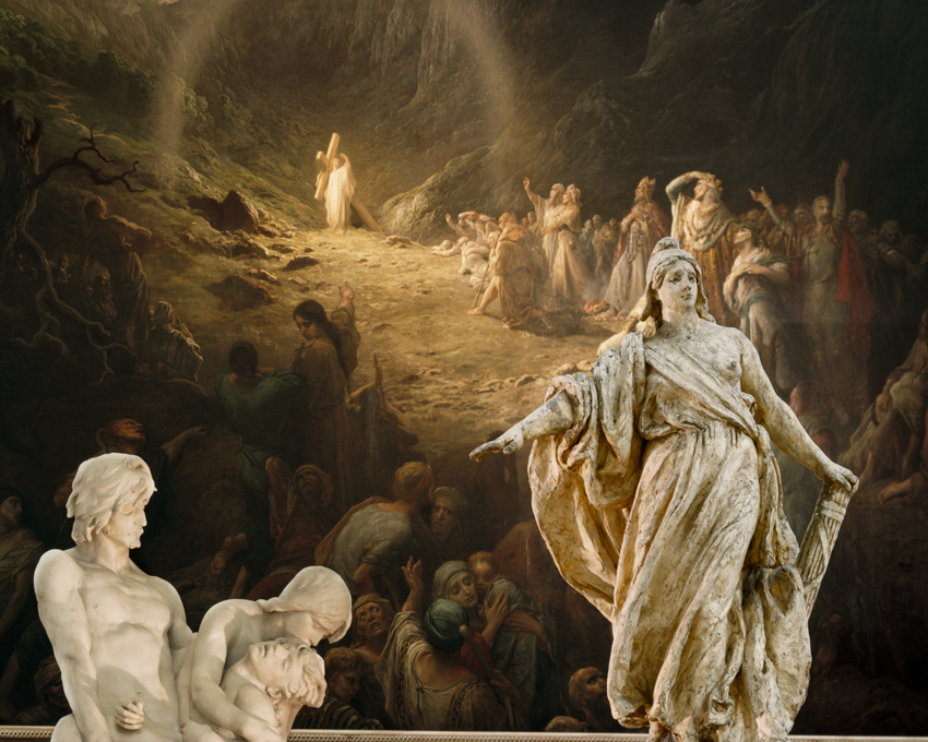 """Petit Palais, The Ernest Barrias' The First Burial (1883) and Gustave Dore's Valley of Tears (France, 1886),"" 2009, photograph, 24x30 in."