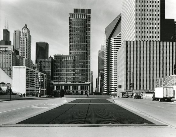 """East Randolph Street, Chicago,"" 2009, photograph, 50x60 in."