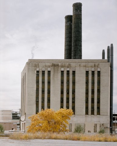 """ComEd Steam Plant, South Lumber Street,"" 2006, photograph, 32x40 in."