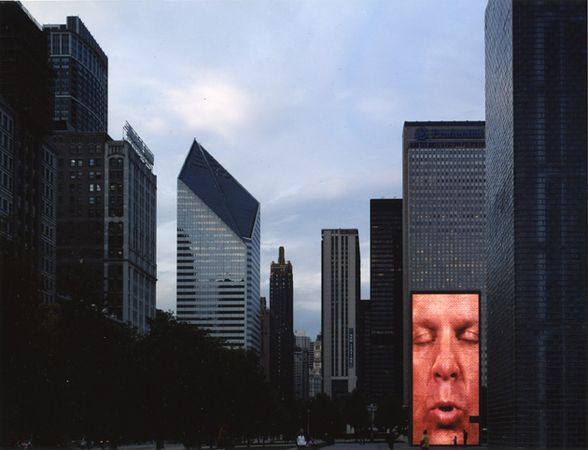 """Crown Fountain, Millenium Park,"" 2006, photograph, 32x40 in."