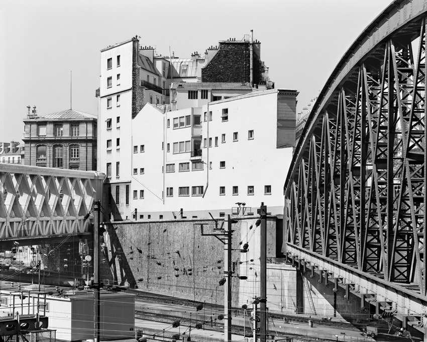 """Iron Road Bridges, Gare de l'Est,"" 1993, photograph, 20x24 in."