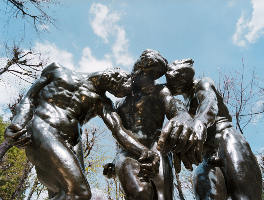 """Musee Rodin, August Rodin's, Les Bourgeois de Calais (1889),"" 2009, photograph, 20x24 in."