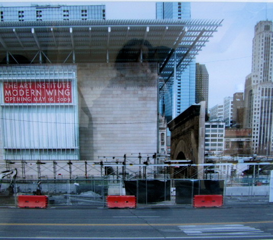 """Millenium Park and New Wing of the Art Institute of Chicago,"" 2006, photograph, 20x24 in."