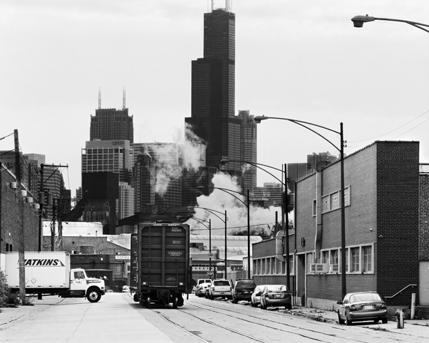 """North Cherry Avenue and Sears Tower,"" 2006, photograph, 20x24 in."
