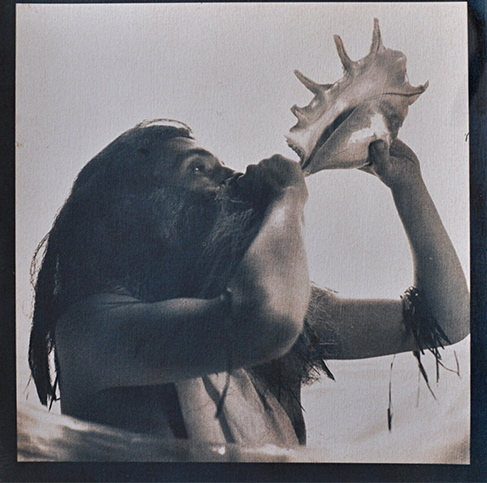 """Triton,"" 2011, cyanotype and gum bichromate print, 12x12 in."
