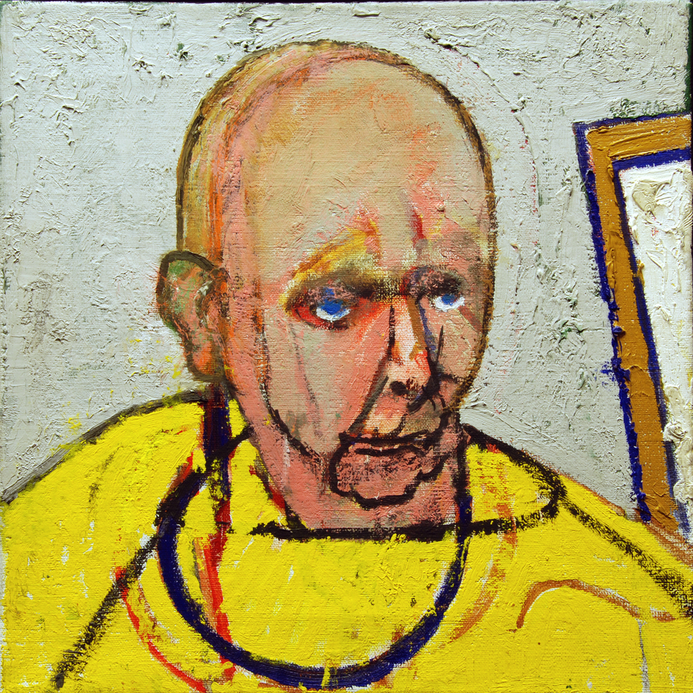 """Self Portrait (Yellow),"" 1997, archival ink jet print, 14x14 in."