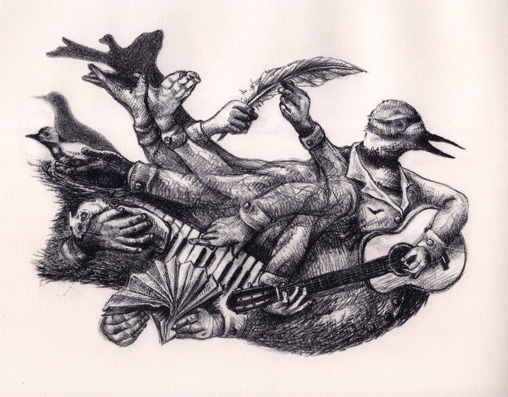 """Coat Of Arms,"" 2012, lithograph, 8x10 in."