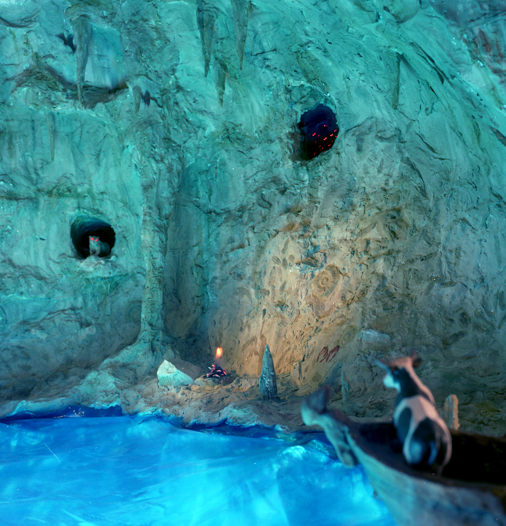"""In the Blue Grotto,"" 1998, c-print, 19x17.5 in."