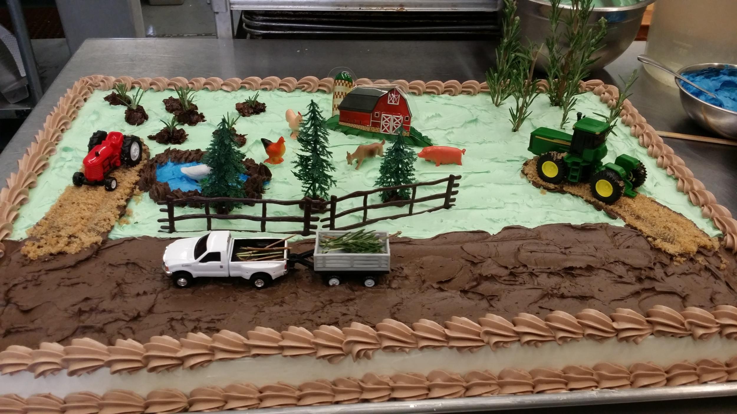 Bill Birthday Farm Cake 9-2-14