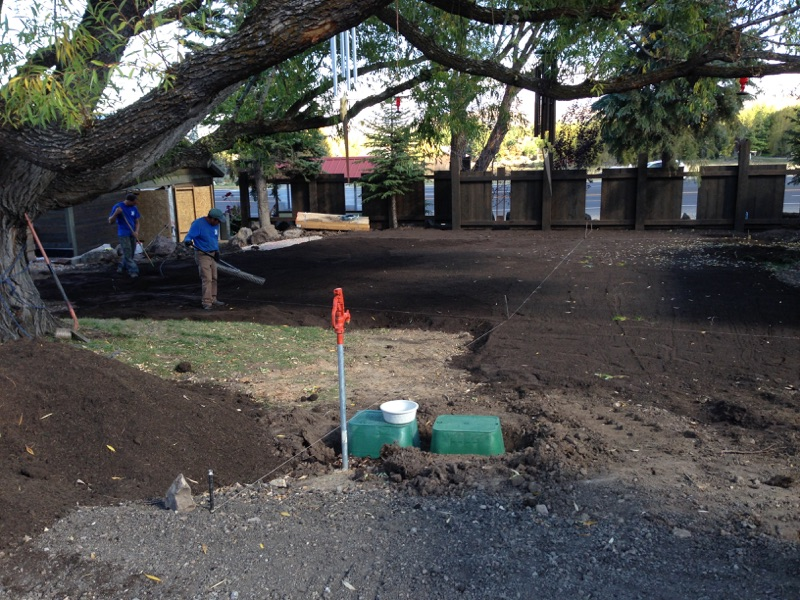 Preparing the yard for sod