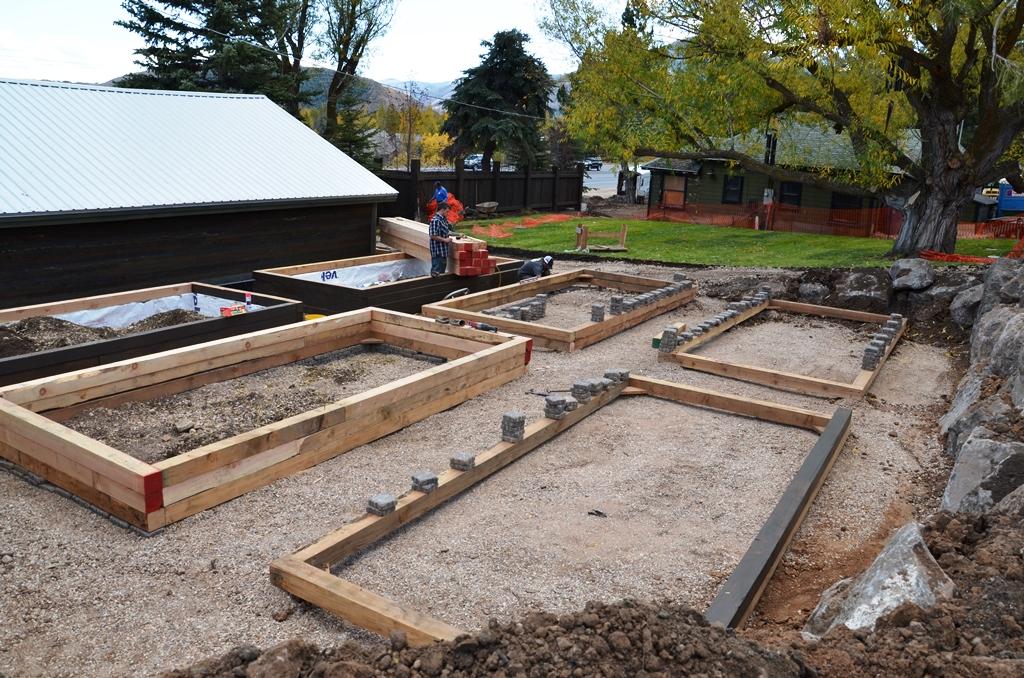 Garden box framework