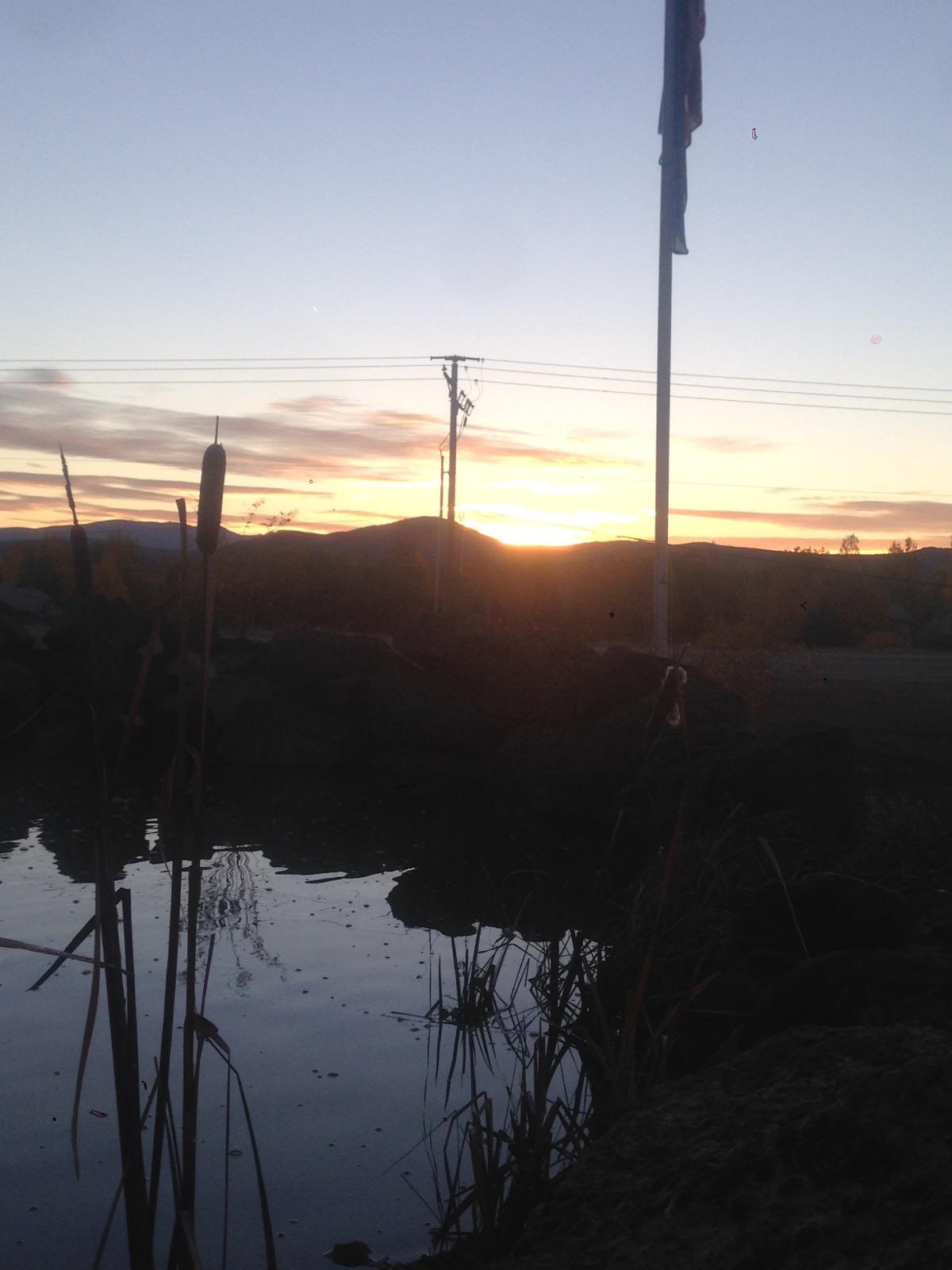 Autumn sunset at the BW Farm
