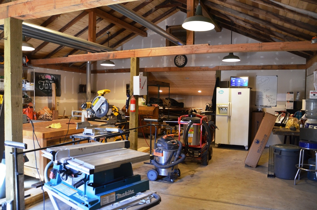 Inside the BW Farms Workshop