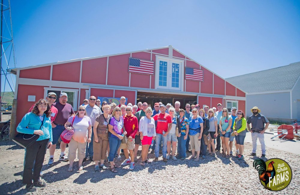 Iowa Farm Bureau tours our ranch in Park City, Utah.