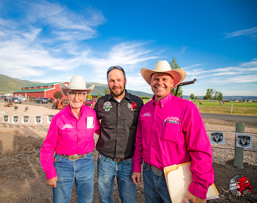 Ken Woolstenhulme, Mike Osguthorpe, and Matt Russell at the Oakley Rodeo 2017