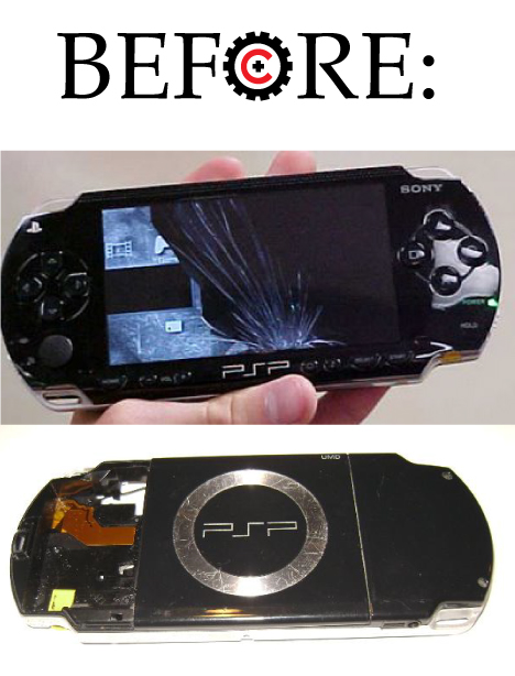 Tech Wreck Custom PSP Before